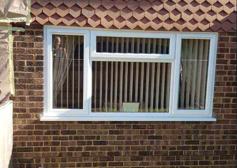 uPVC window frame refurbishment - BeforeHigham Ferrers