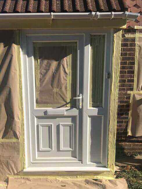 uPVC Front Door Refurbishment Before Higham Ferrers